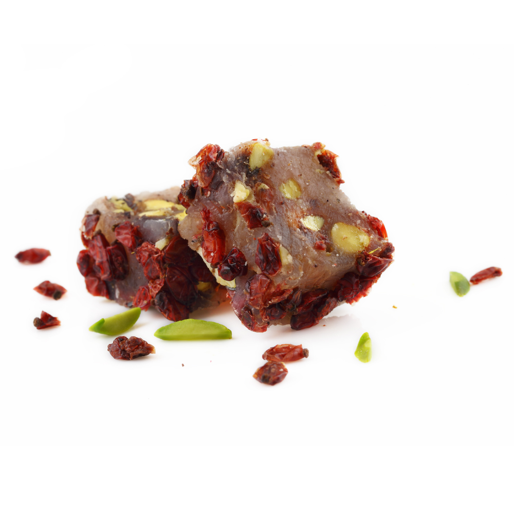 Pomegranate Turkish Delight with Pistachios & Zereshk